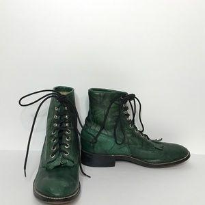 Justin Lace Up Boots Size Men's 5 Women's 7